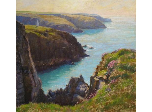 Allen-David-The-Pembrokeshire-Coast-near-Porthgain-pastel-15-in-x-16-in-.jpg