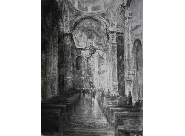 Arnold-June-Chiesa-di-Santa-Catarina-Sicily.-Ch-arcoal-&-pastel.jpg