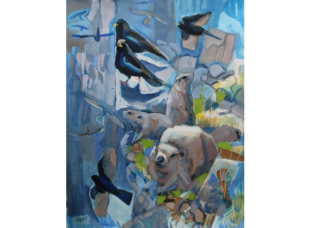 Derry-Nick-Marmots-and-Alpine-Choughscollage-and-acrylic.jpg
