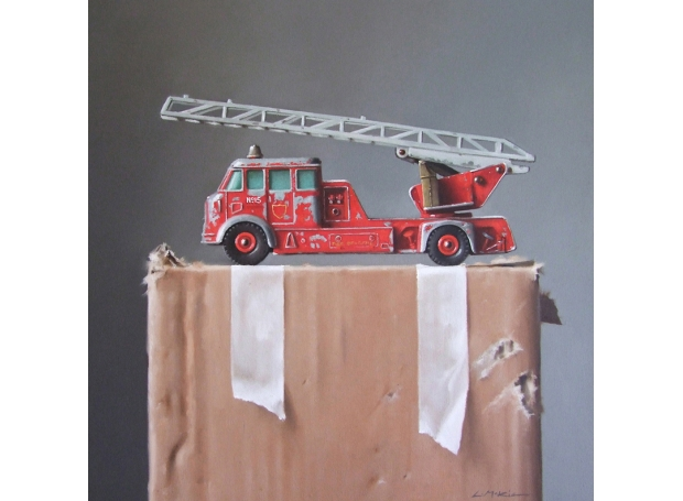McKie-Lucy-Toy Fire Engine on Cardboard Box.jpg