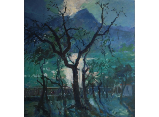 Corsellis-Jane-Olive Trees at Lake Garda. Evening.jpg