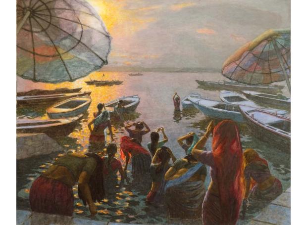 Cullen-Patrick-Women Bathing at Varanasi Dawn (1).jpg