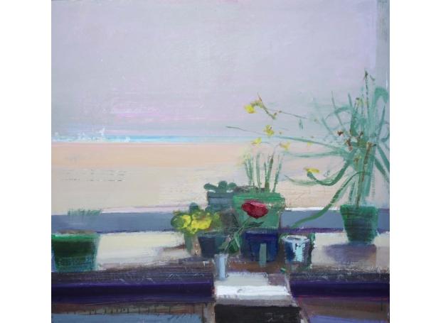 Curtis Paul Valentines Day, Porthmeor Beach Acrylic and Oil 76x80cm £1750.jpg
