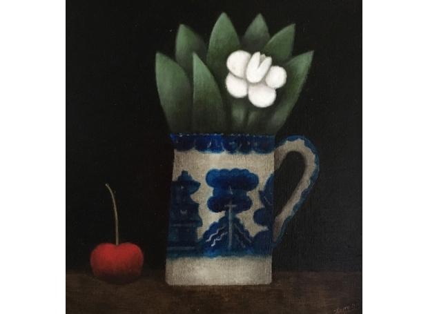 Leman-Martin-White-Flower-with-Cherry.jpg