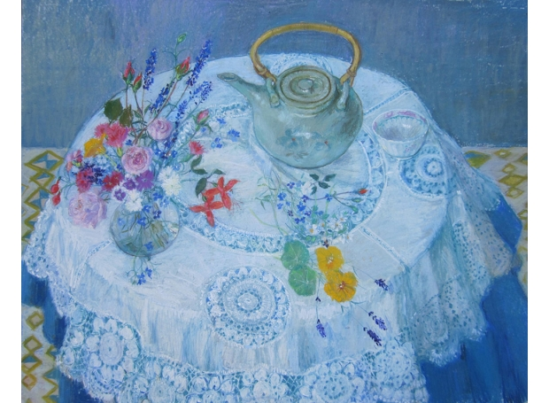 Ambrus-Glenys-Tea Kettle with Garden Flowers 83x72cm    £1200.jpg