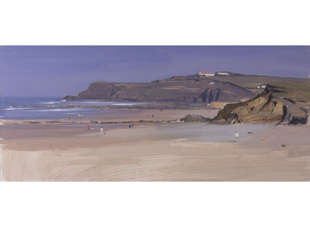Hughes-Tom-Looking-North-at-Widemouth-Bay, Mid-Afternoon-March.jpg