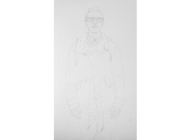 'Yellow Coat' pencil work by Malcolm Ashman
