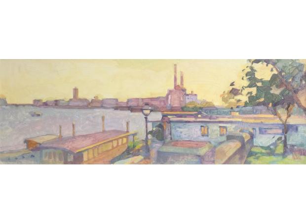 Avdeeva-Natalia-Setting Sun, Chelsea Harbour.jpg