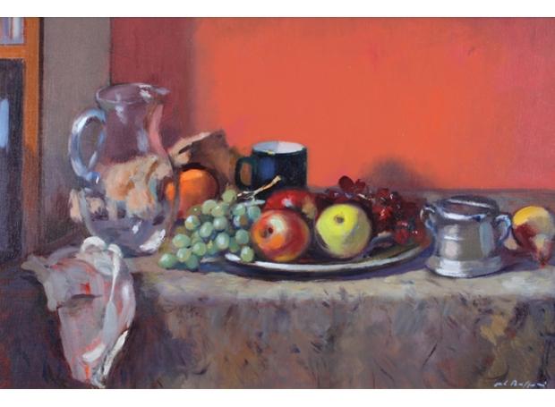 Baffoni_Pier Luigi_Still life glass jug and fruit.jpg