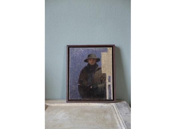 Calver-Will-Self Portrait in Hat (framed).jpg