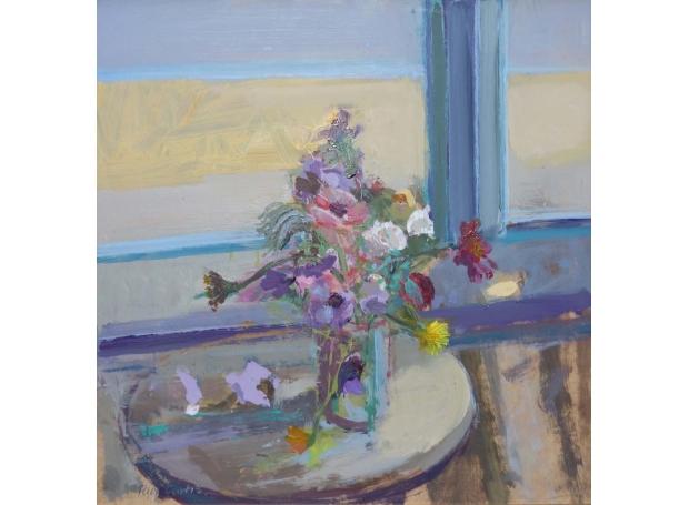 Curtis Paul Summer Flowers St Ives. Acrylic and Oil. 55x55cm £785.jpg