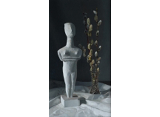 Cycladic Figurine and Willow Catkins_S.jpg