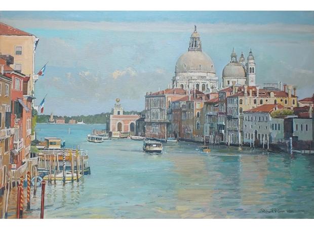 Grand Canal Venice - Ferry passing  Salute.jpg
