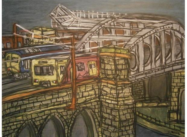 Gray-Jonathan-Trains Passing  on Monkwearmouth Bridge.jpg