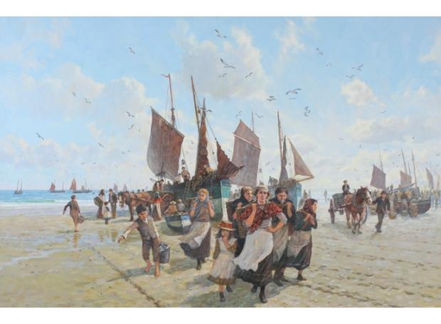Groves_John Michael_A herring fleet 1897.jpg