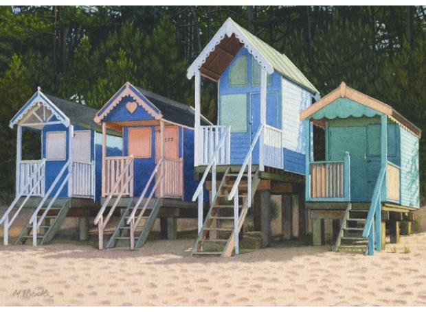 Heath-Margaret-Beach Huts and Pine Trees.jpg
