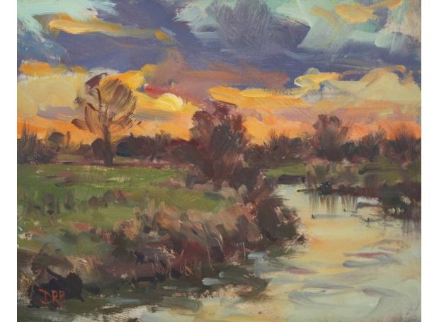 Pilgrim-David-Setting Sun over the River Ouse, Passenham.jpg