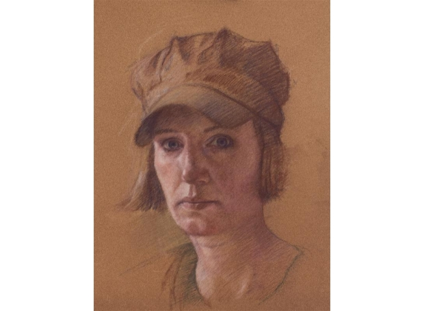 Ploeg-Sophie-Self Portrait with Baker Boy Hat.jpg