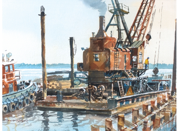 Steam Hammer, Dock Construction |