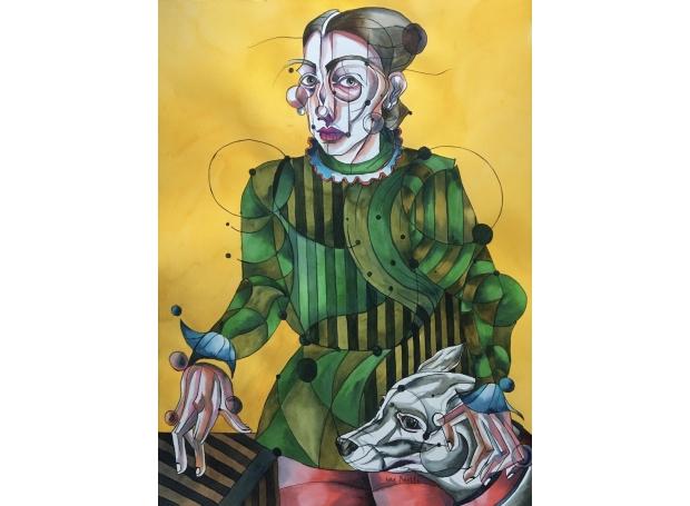 Self-Portrait after Bronzino 3 - 76cm x 56cm.jpg.jpg