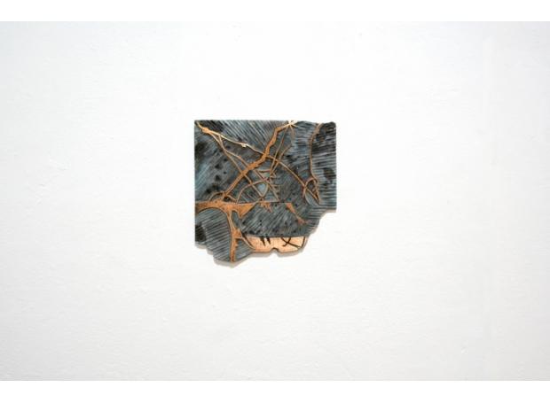 """Topographics Variation V"" Electroformed Copper by Kristina Chan"