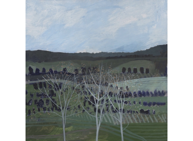 """""""Back to Green"""" Egg Tempera by Andrew Lansley"""