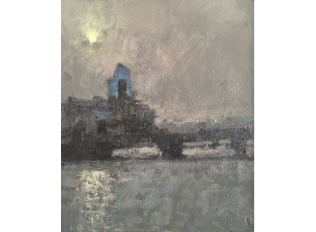 """One Blackfriars"" Oil on Panel by Benjamin Hope"