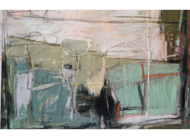 """""""Morning Walk"""" Pastel by Jeannette Hayes"""