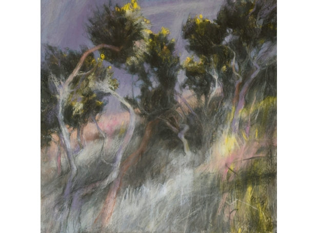 """Sarah Bee Backs to the Wind"" pastel with acrylic on mountboard by Sarah Bee"