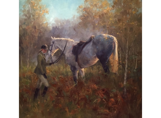 Tired Grey and lady by Frances Bell