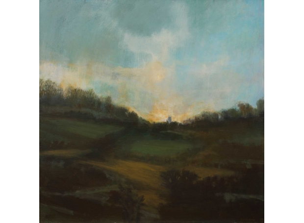'Evening Fields' oil painting by Annie Boisseau