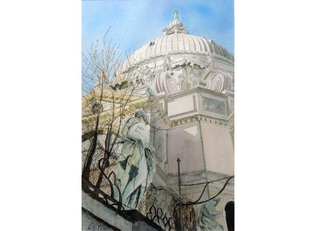 'Santa Maria della Salute' watercolour painting by Diana Sheldon