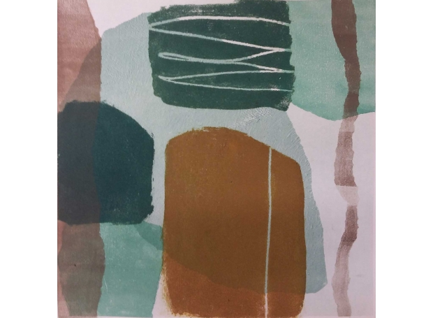 'Faraway' abstract monoprint by Sarah Warley-Cummings