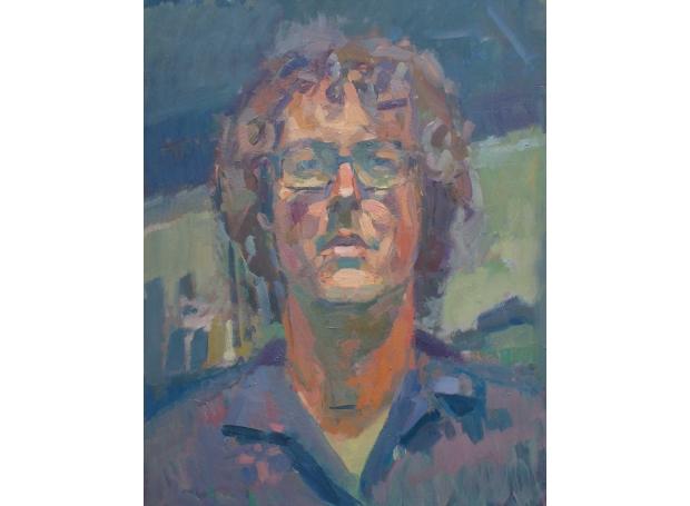 """Self Portrait 2"" Oil on Panel by Andrew Farmer"