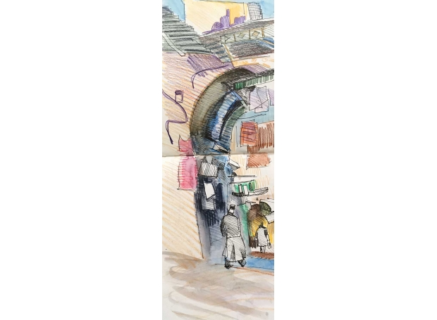 'The Souk, Jerusalem' by Lachlan Goudie ROI