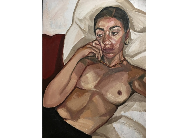 'Nude' oil painting by Ania Hobson