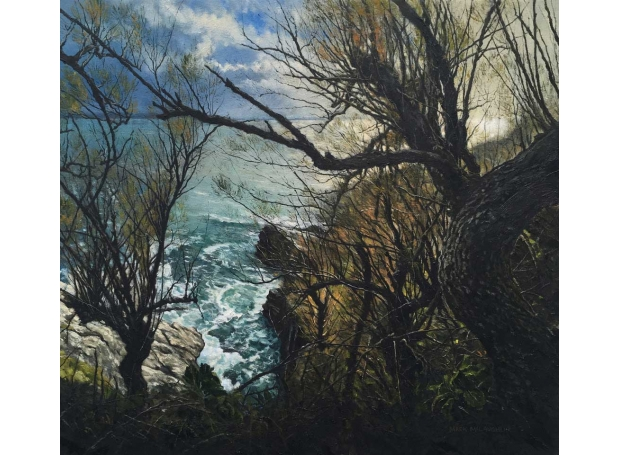 """""""Prussia Cove, Cornwall"""" Oil on Canvas by Mark McLaughlin"""