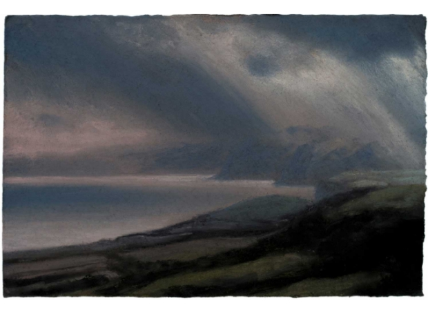 Matthew Draper Last Light, Jurassic Coast Pastel Art for Sale