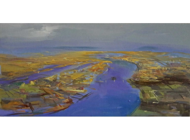 'Greenwich Peninsula' oil painting by Philip James