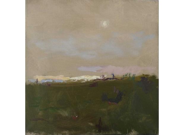 'Misty Landscape' oil painting by Daniel Shadbolt