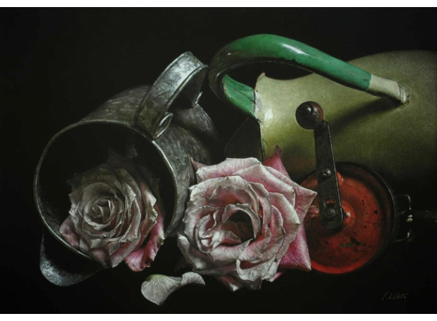 'Jugs and Roses' pencil work by Patsy Whiting