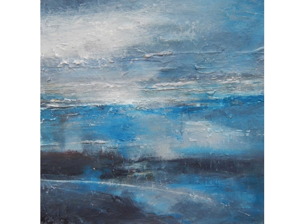 'Ropes and Reflections' mixed media on board by Tracey Ross