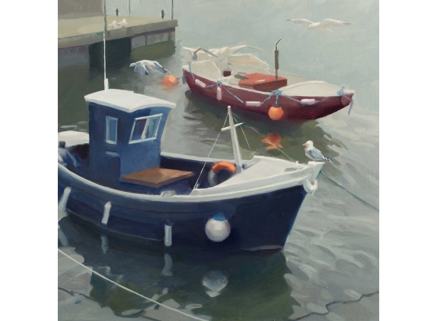 Boats in Berwick harbour by Frances Bell