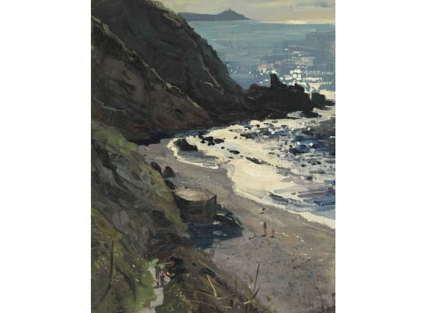 Fiinygook Beach from the Gook Cafe by Peter Brown Buy Art