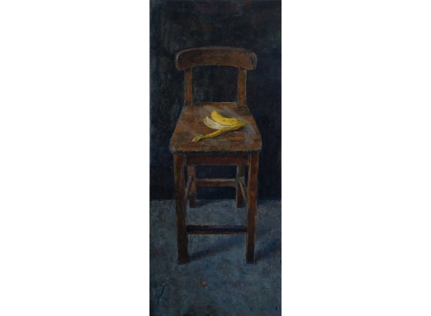 'Chair with Banana Skin' oil painting by Bernadett Timko