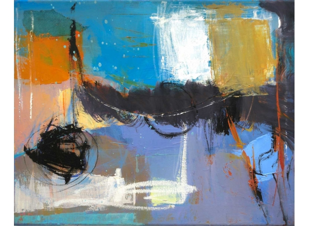 'Over and Beyond' mixed media by Michele Jaffe-Pearce