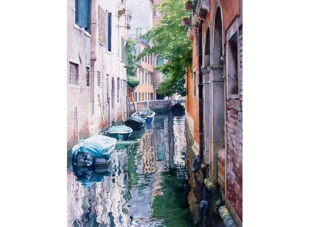 'Venetian Scene' watercolour painting by Brian Robinson