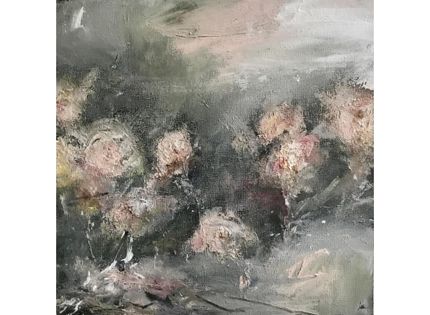 'The New Romantics' oil painting by Rachel Arif