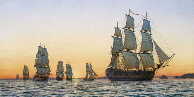 Mark Myers HM Ship Triumph and Squadron off the Pointe