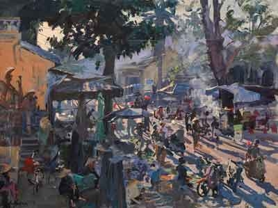 Peter Brown, Early Morning, The Market Hoi An, Vietnam (detail)